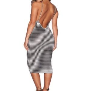 Dresses & Skirts - Striped Low Back Dress